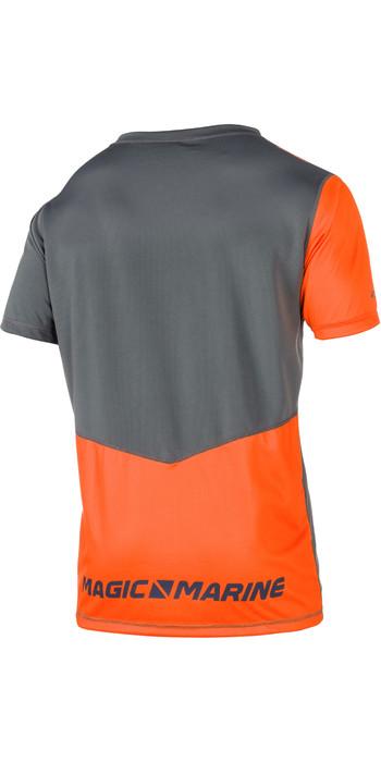 2021 Magic Marine Mens Cube Quick Dry Short Sleeve Top Orange 180062