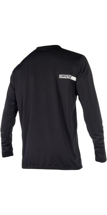 2021 Mystic Star Long Sleeve Loosefit Quick Dry Rash Vest Black 180106