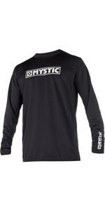 2021 Mystic Star Long Sleeve Loosefit Quick Dry Rash Vest Black 180106