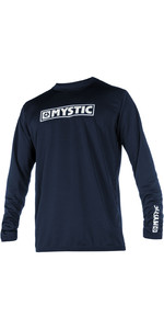 2019 Mystic Star Long Sleeve Loosefit Quick Dry Rash Vest Navy 180106
