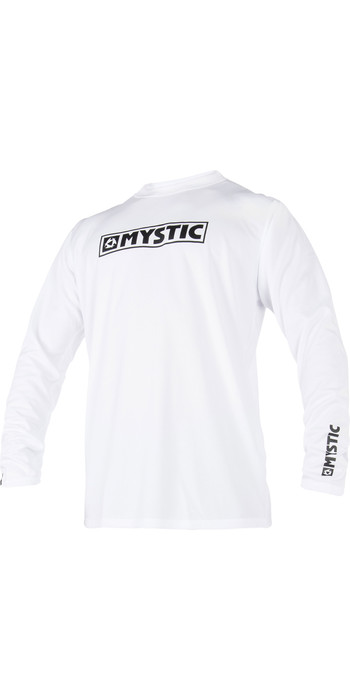 2021 Mystic Star Long Sleeve Loosefit Quick Dry Rash Vest White 180106