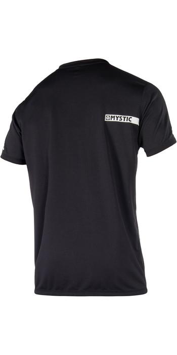 2021 Mystic Star Short Sleeve Loosefit Quick Dry Rash Vest Black 180107