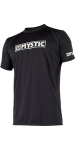 2021 Mystic Star Short Sleeve Loosefit Quick Dry Rash Vest Black 180107