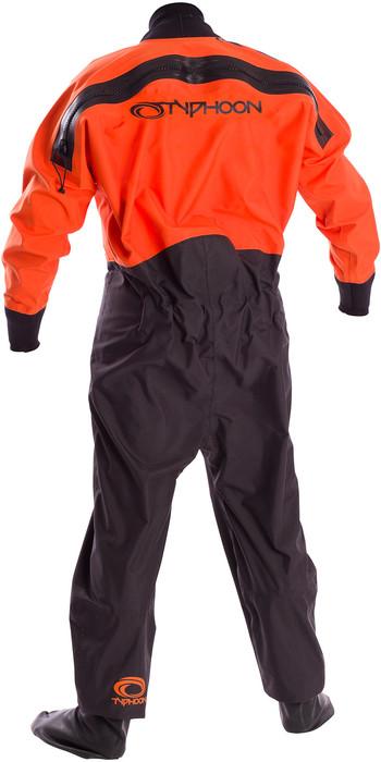 2020 Typhoon Junior Rookie Drysuit Black / Orange 100171