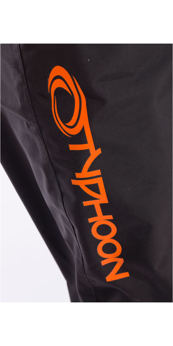 2021 Typhoon Junior Rookie Drysuit Black / Orange 100171