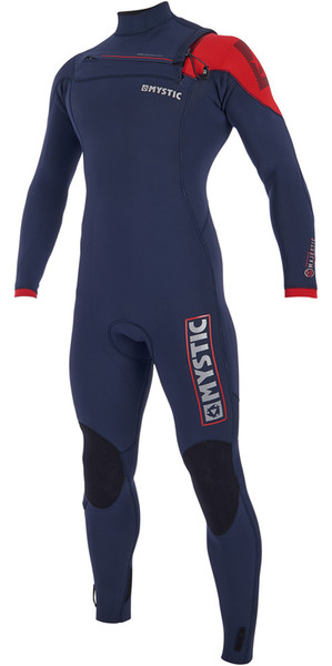 2019 Mystic Majestic Chest Zip Wetsuit 4/3mm Navy 190002