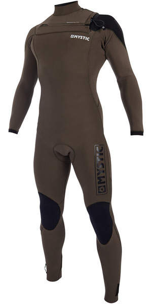 2019 Mystic Majestic Chest Zip Wetsuit 4/3mm Dark Olive 190002