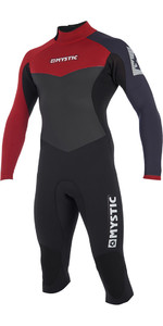 2019 Mystic Drip 4/3mm Long Arm Short Leg Back Zip Wetsuit Bordeaux 190010