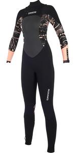 2019 Mystic Diva Womens 5/3mm GBS Chest Zip Wetsuit Black / Pink 190012