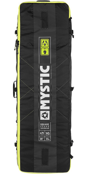 2019 Mystic Elevate Lightweight Square Board Bag 1.75M Black 190055