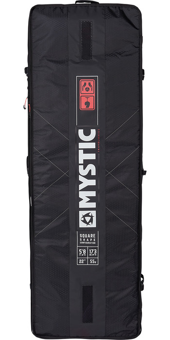 2021 Mystic Gearbox Square Board Bag 1.45M Black 190057