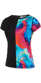 2019 Mystic Womens Diva Short Sleeve Quickdry Rash Vest Aurora 190098