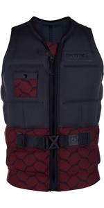 2019 Mystic Supreme Front Zip Impact Wake Vest Dark Red 190124