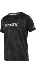 2019 Mystic Majestic Mens Short Sleeve Loosefit Quick Dry Rash Vest Black 190162