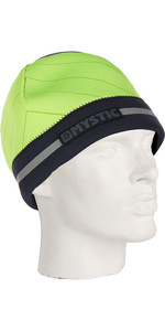 2021 Mystic 2mm Neoprene Reflective Beanie Flash Yellow 190178