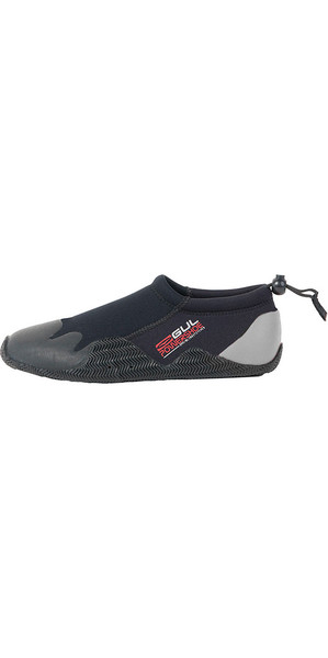 2018 Gul Kids, Child, Junior 3mm Power Slipper Shoe Black / Grey BO1267