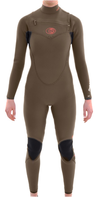 Rip Curl Womens 4/3mm Flashbomb Chest Zip Wetsuit Fatigue Wsm4fg Picture