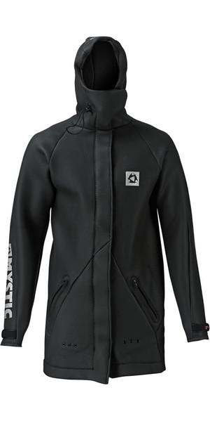2018 Mystic Long Sharkskin Battle Jacket in Black 130420
