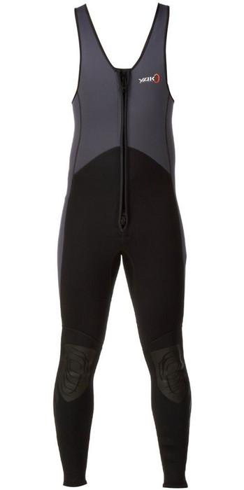 2021 Yak Kayak Front Zip 3mm Long John Wetsuit Grey / Black  5403-A