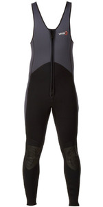 2019 Yak Kayak Front Zip 3mm Long John Wetsuit Grey / Black  5403-A