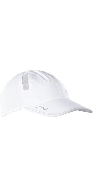 2018 2XU Run Cap White UR1188F