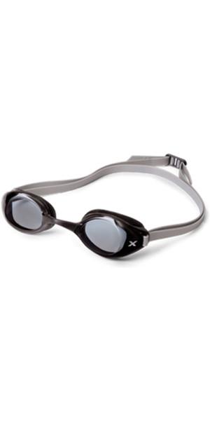 2XU Stealth Smoked Goggles in Black / Silver UQ3978K