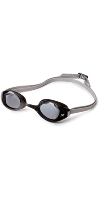 2XU Stealth Smoked Goggles in Black / Silver UQ3978K