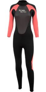 Billabong Womens Launch 4/3mm GBS Wetsuit Black / CHERRY O44G01 - 2ND