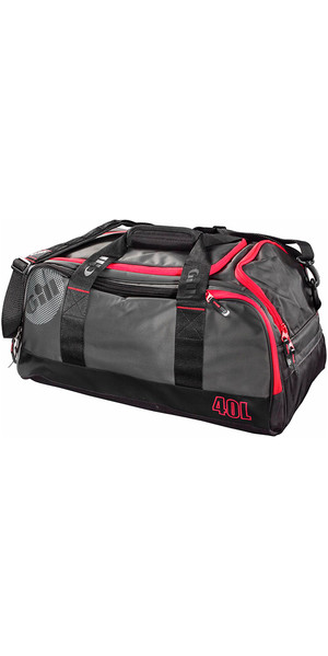 2018 Gill 40L Compact Bag Dark Grey / Red Detail L060