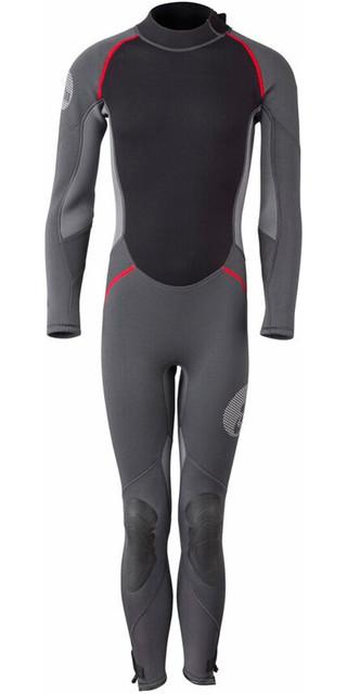 2018 Gill Junior 3/2mm Back Zip Wetsuit Graphite / Ash 4605j Picture