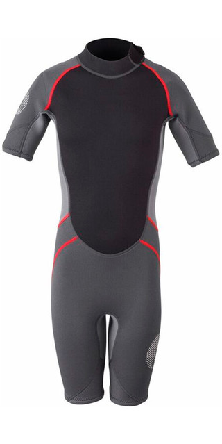 2018 Gill Junior 3/2mm Shorty Wetsuit Graphite / Ash 4603j Picture