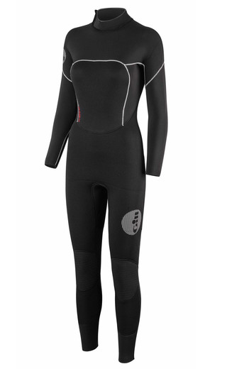 2018 Gill Womens Thermoskin 5/3mm Gbs Dinghy Wetsuit In Black 4609w Picture