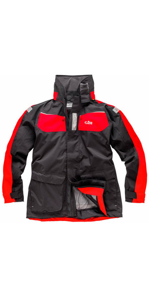 Gill Mens Coast Jacket Graphite / Red IN12J