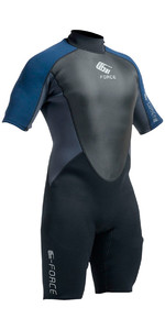 2020 Gul G-Force 3mm Mens Shorty Wetsuit Black / Navy GF3305-A9