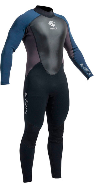 2019 Gul G-Force 3mm Mens Wetsuit Black / Navy GF1305-A9