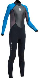2020 Gul G-Force JUNIOR 3mm Back Zip Flatlock Wetsuit in Black / Zafer GF1307-A9
