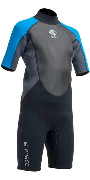 2018 Gul G-Force Junior 3/2mm Shorty Wetsuit in Black / Zaffer GF3307-A9
