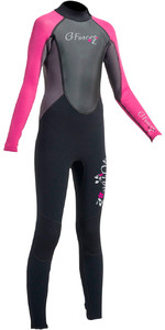 2019 Gul G-Force Junior 3mm Flatlock Wetsuit Black / Pink GF1308-A9