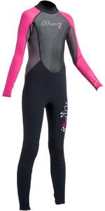 2019 Gul G-Force Junior 3mm Flatlock Wetsuit Black / Pink GF1308-A9