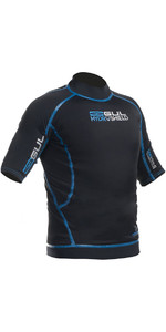 Gul Hydroshield Pro Waterproof Thermal Short Sleeve Top BLACK / Blue AC0090-A5