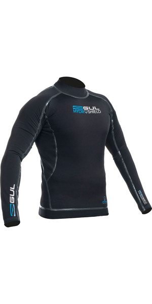 2019 Gul Hydroshield Pro Waterproof Thermal Long Sleeve Top BLACK / BLACK AC0089-A9