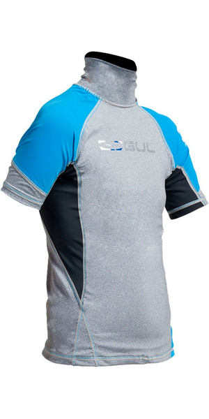 2018 Gul Junior Short Sleeve Rash Vest in Marl / Crip RG0341-A9