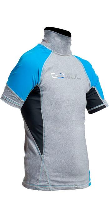 Gul Junior Short Sleeve Rash Vest in Marl / Crip RG0341-A9