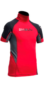 Gul Junior Short Sleeve Rash Vest in Red / Black RG0341-A9