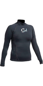 Gul Womens Swami Long Sleeved Rash Vest BLACK RG0331-A9