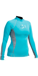 Gul Womens Swami Long Sleeved Rash Vest Turquoise / Marl RG0331-A9