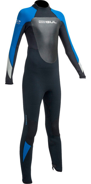2019 Gul Response 5/3mm Junior Wetsuit Black / Blue RE1218-B1
