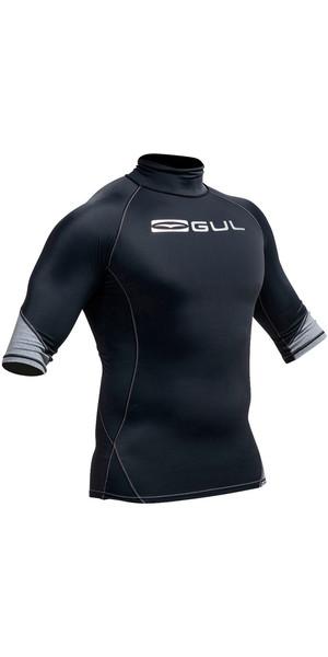 Gul Xola Short Sleeve Rash Vest Black RG0338-A9