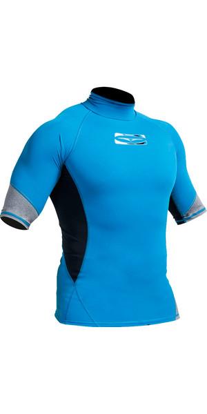 Gul Xola Short Sleeve Rash Vest Crip / Black (Blue) RG0338-A9
