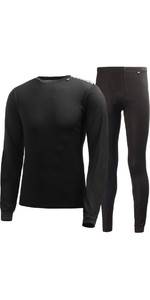 2021 Helly Hansen Comfort Dry 2-Pack Base Layer BLACK 48676